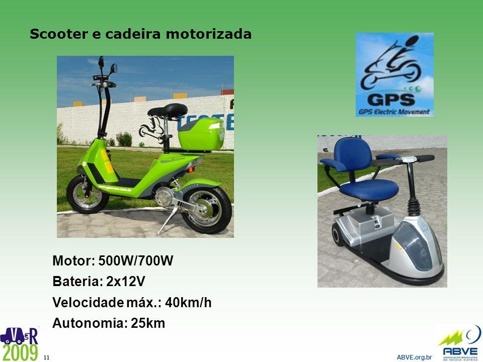 Scooter e cadeira motorizada