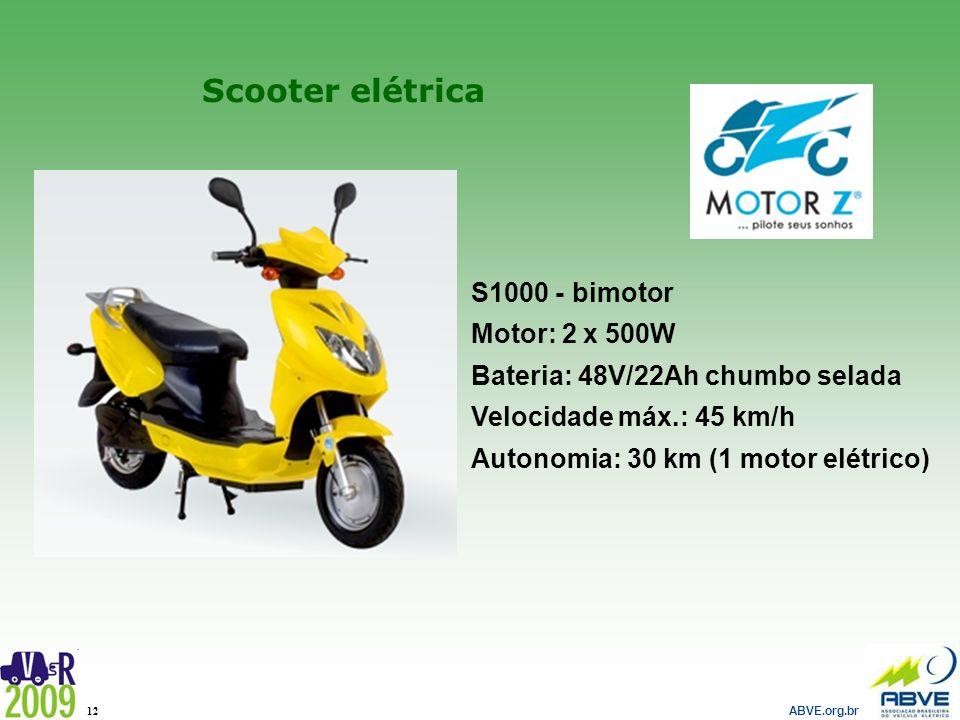 Scooter elétrica S1000 - bimotor Motor: 2 x 500W