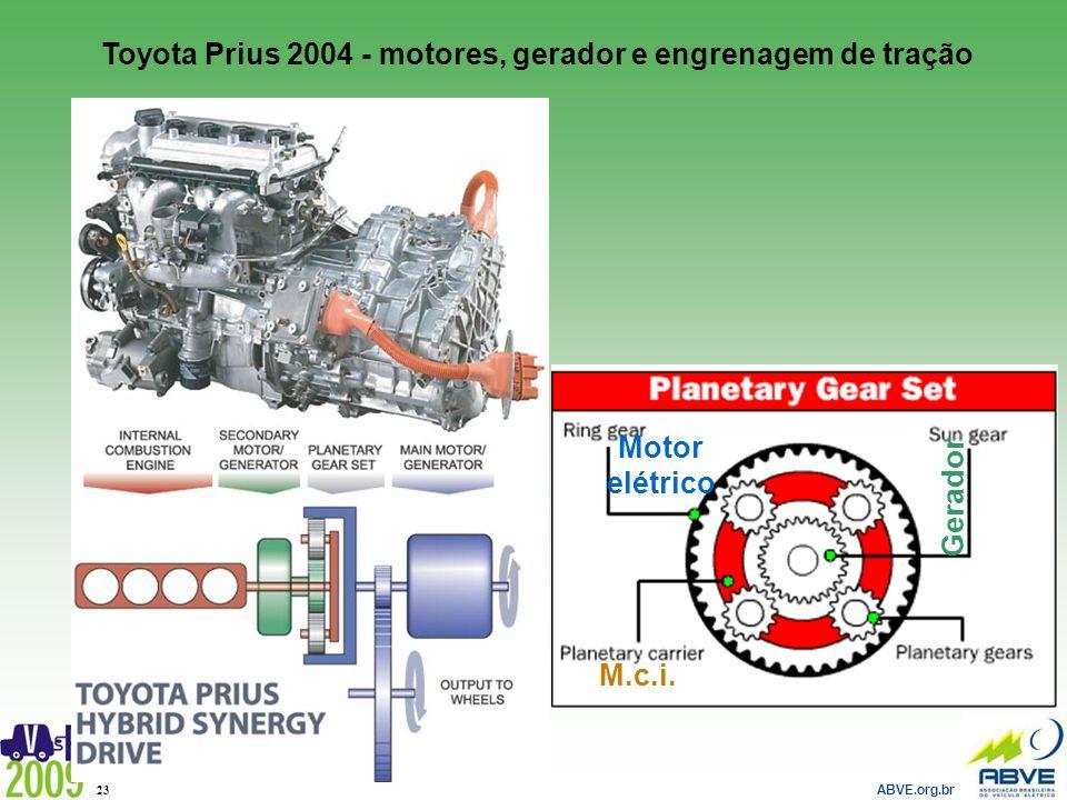 Toyota Prius 2004 - motores, gerador e engrenagem de tração