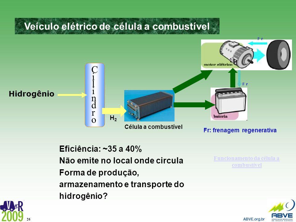 Veículo elétrico de célula a combustível