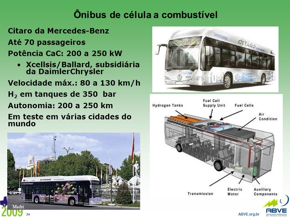 Ônibus de célula a combustível