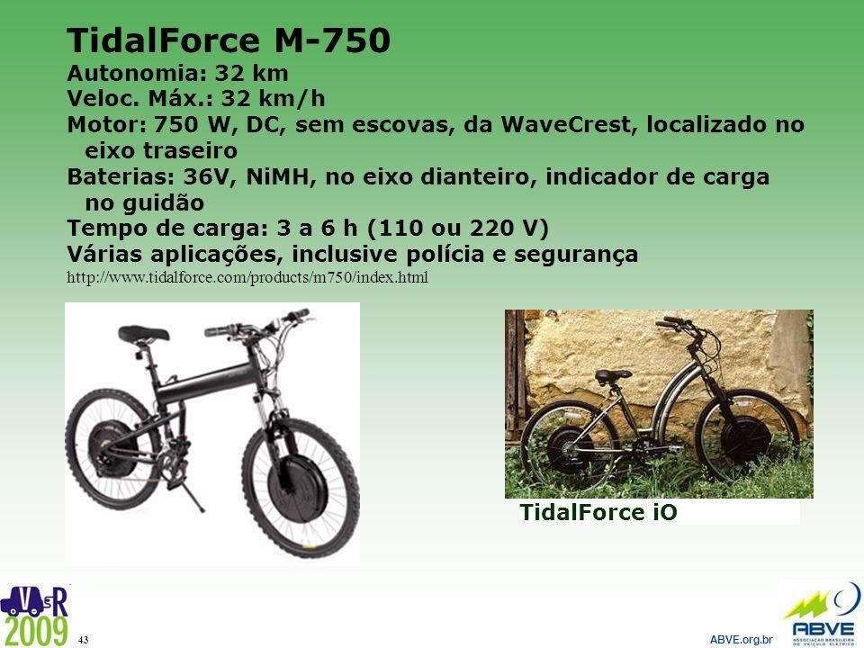 TidalForce M-750 Autonomia: 32 km Veloc. Máx.: 32 km/h