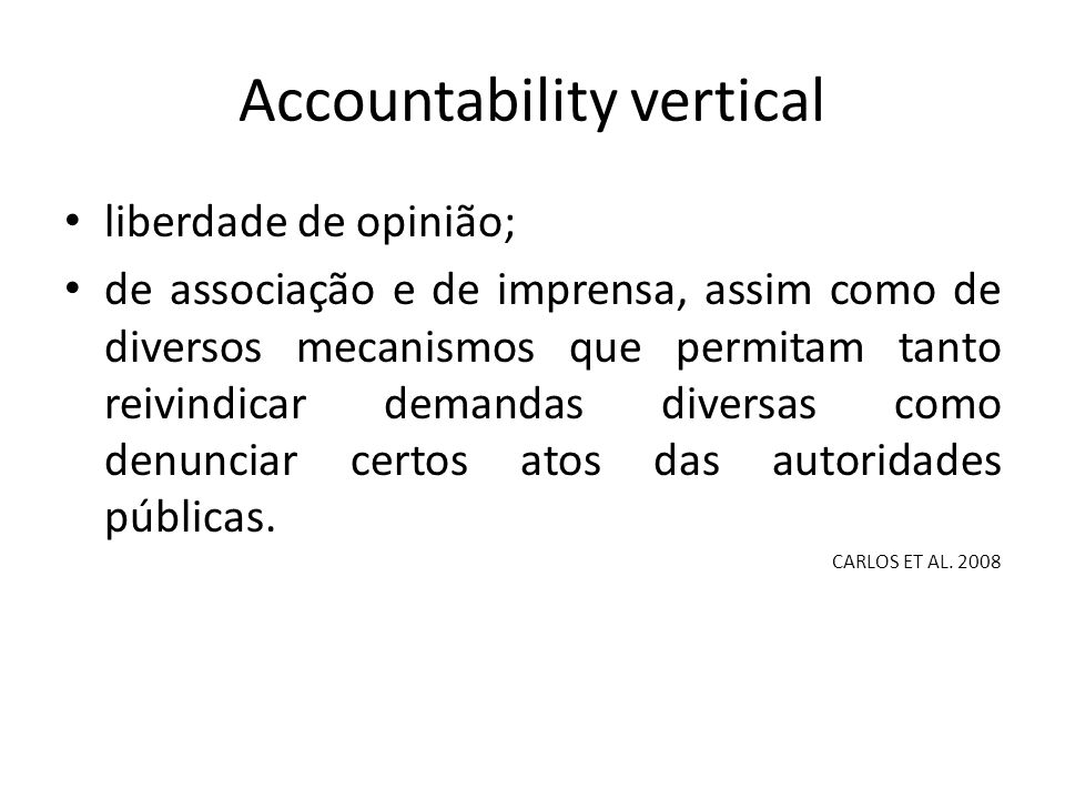 Accountability vertical