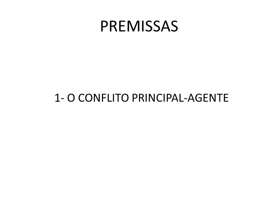 1- O CONFLITO PRINCIPAL-AGENTE