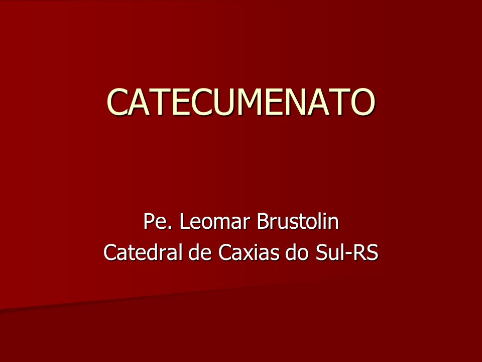 Pe. Leomar Brustolin Catedral de Caxias do Sul-RS