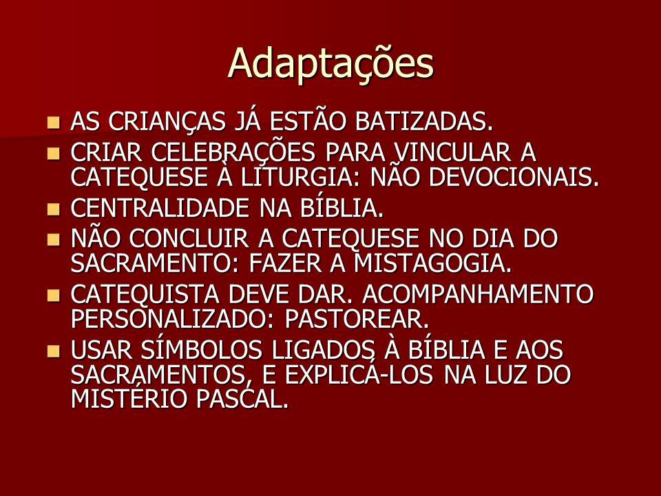 Adaptações AS CRIANÇAS JÁ ESTÃO BATIZADAS.