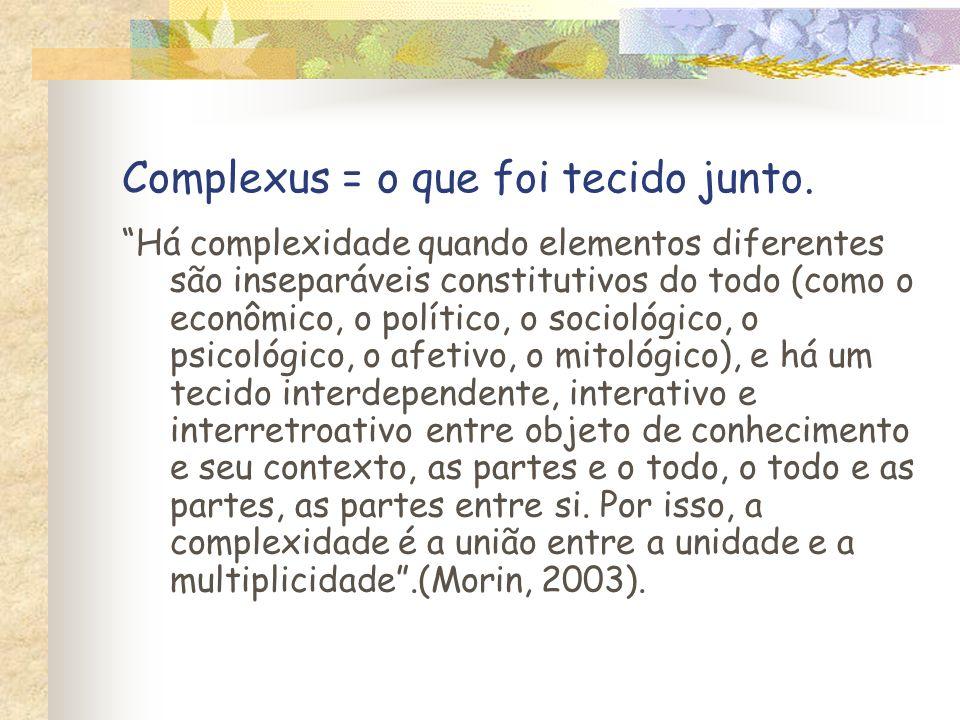 Complexus = o que foi tecido junto.