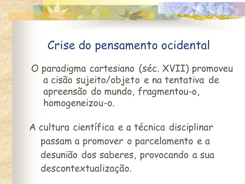 Crise do pensamento ocidental