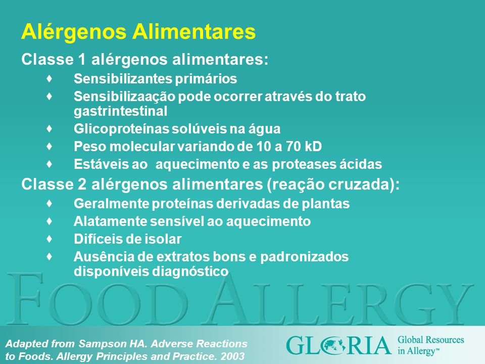 Alérgenos Alimentares