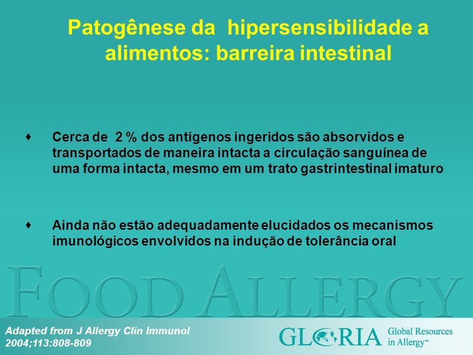 Patogênese da hipersensibilidade a alimentos: barreira intestinal