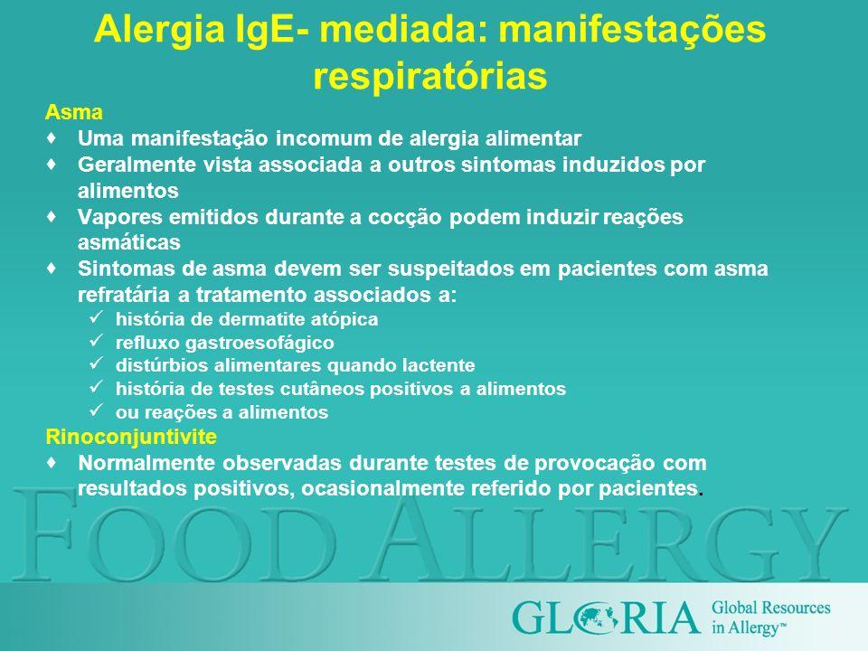Alergia IgE- mediada: manifestações respiratórias