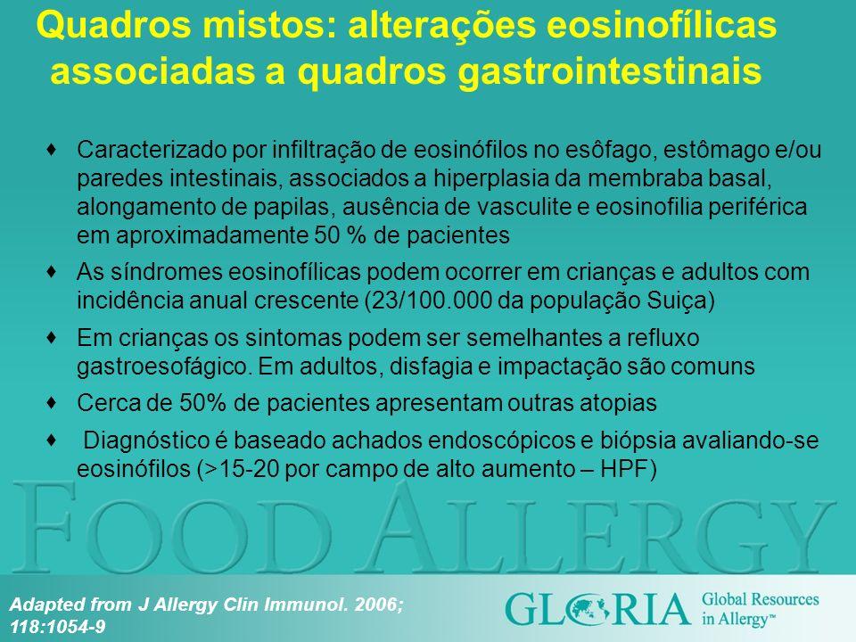 Quadros mistos: alterações eosinofílicas associadas a quadros gastrointestinais