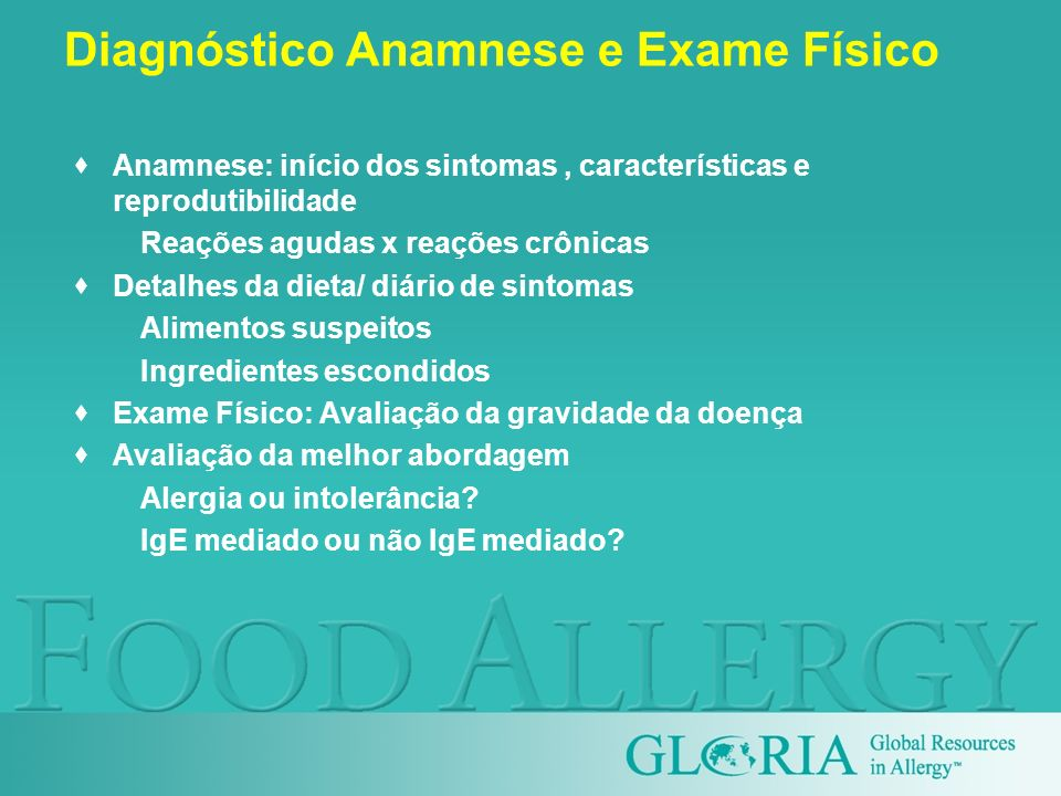 Diagnóstico Anamnese e Exame Físico