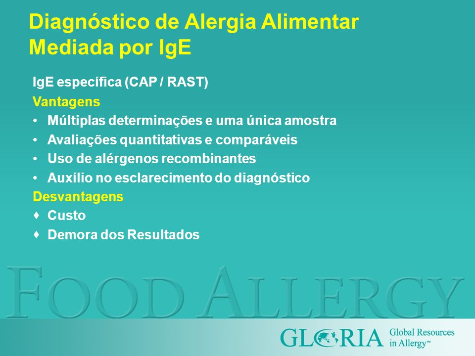 Diagnóstico de Alergia Alimentar Mediada por IgE