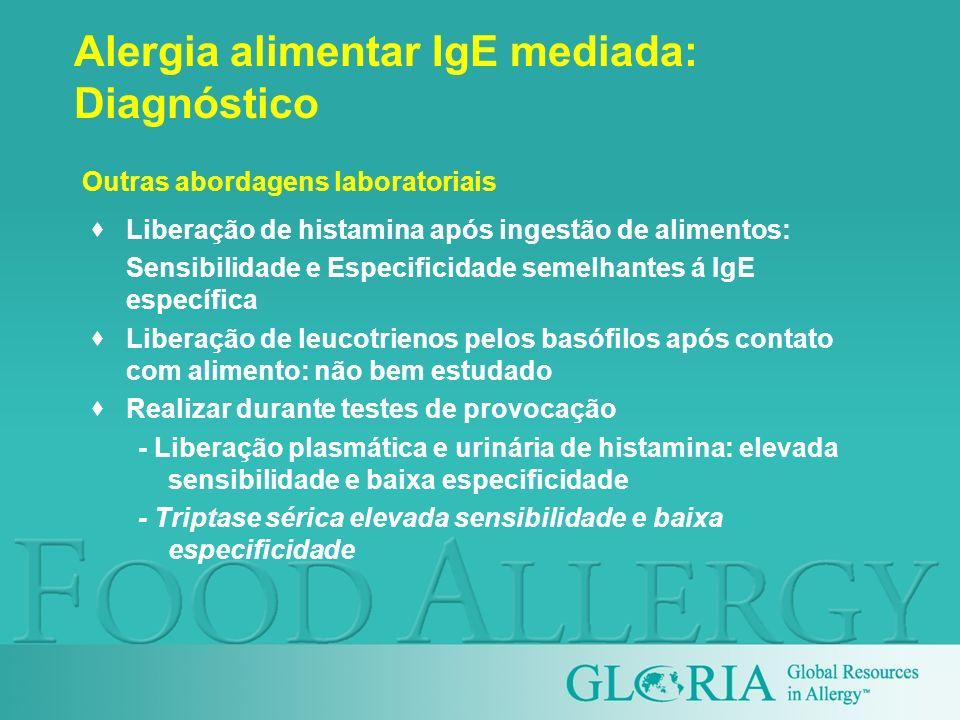 Alergia alimentar IgE mediada: Diagnóstico