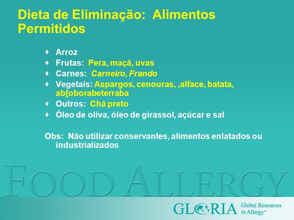 Dieta de Eliminação: Alimentos Permitidos