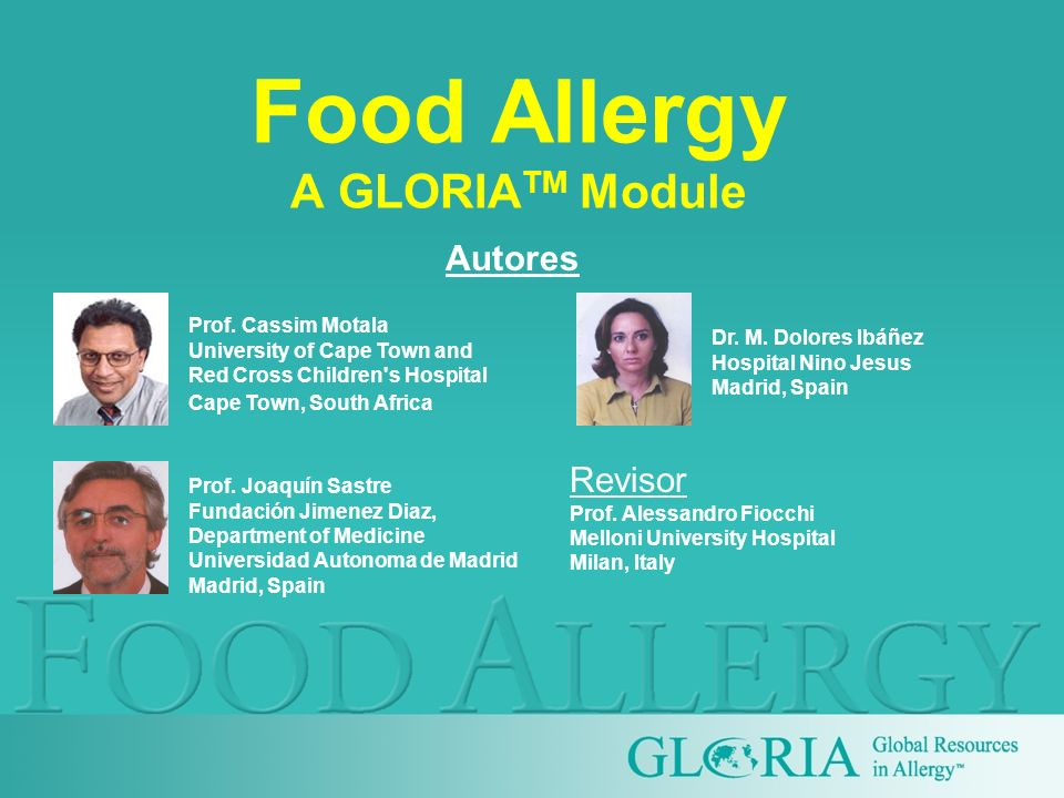 Food Allergy A GLORIATM Module