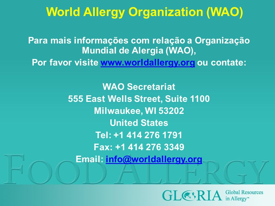 World Allergy Organization (WAO)
