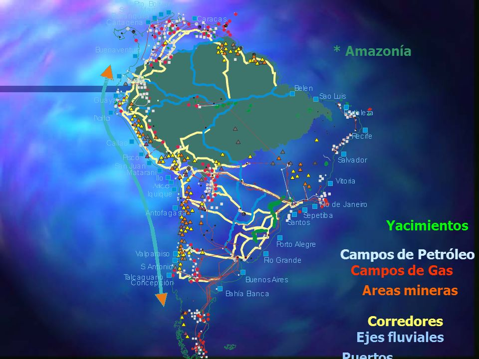 PuertosCampos de Petróleo.Campos de Gas. Yacimientos.