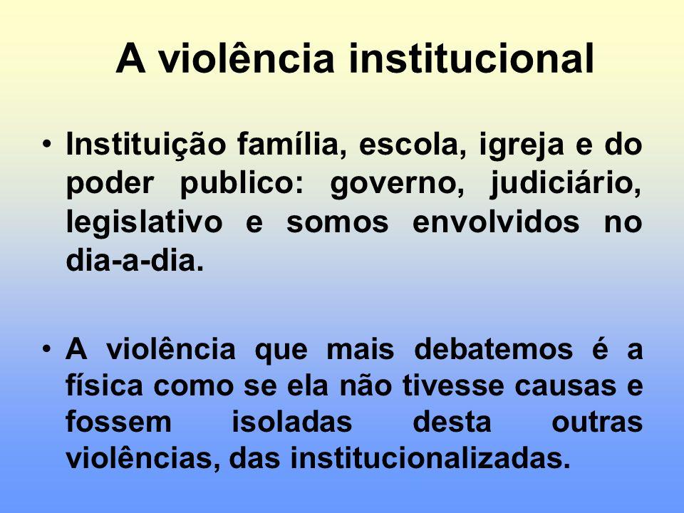 A violência institucional