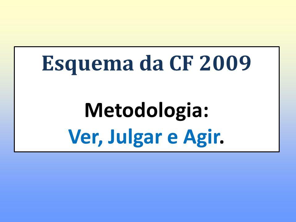 Esquema da CF 2009 Metodologia: Ver, Julgar e Agir.