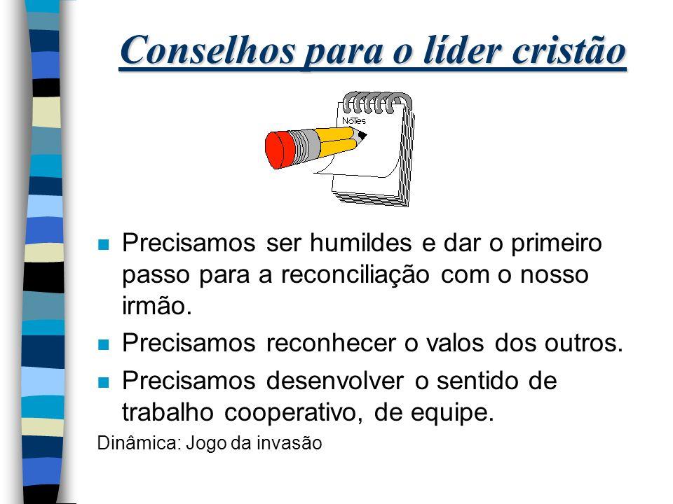 Conselhos para o líder cristão