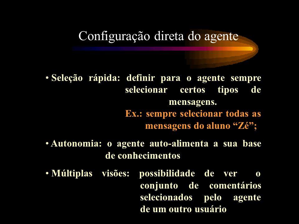 Configuração direta do agente