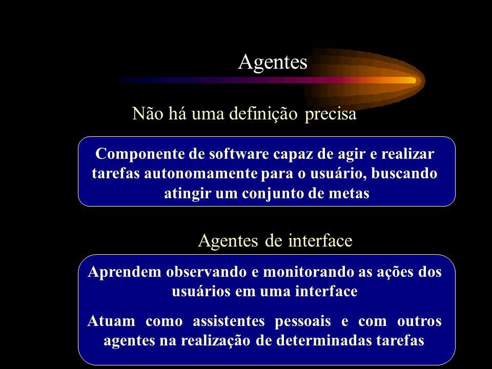 Agentes Não há uma definição precisa Agentes de interface