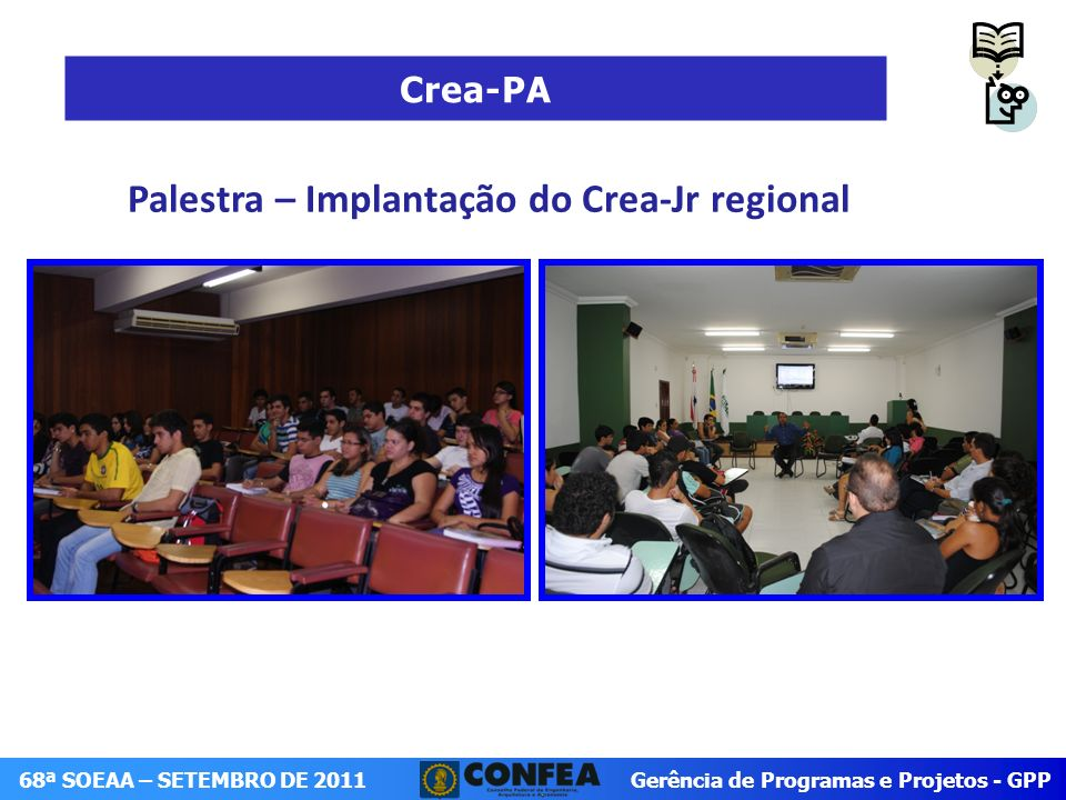 Palestra – Implantação do Crea-Jr regional