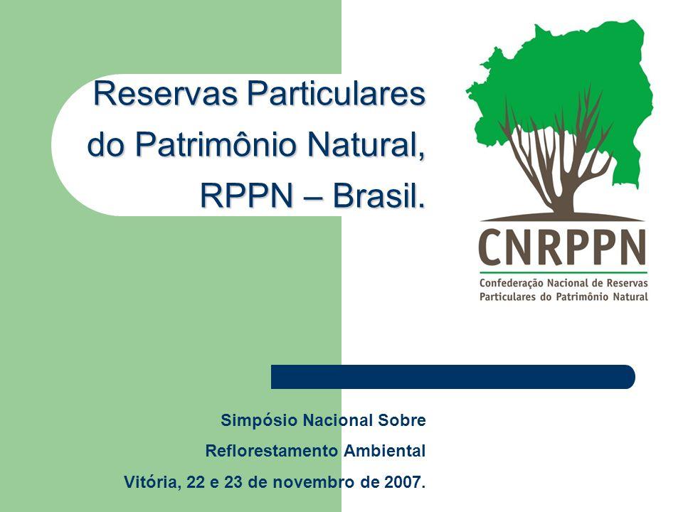 Reservas Particulares do Patrimônio Natural, RPPN – Brasil.