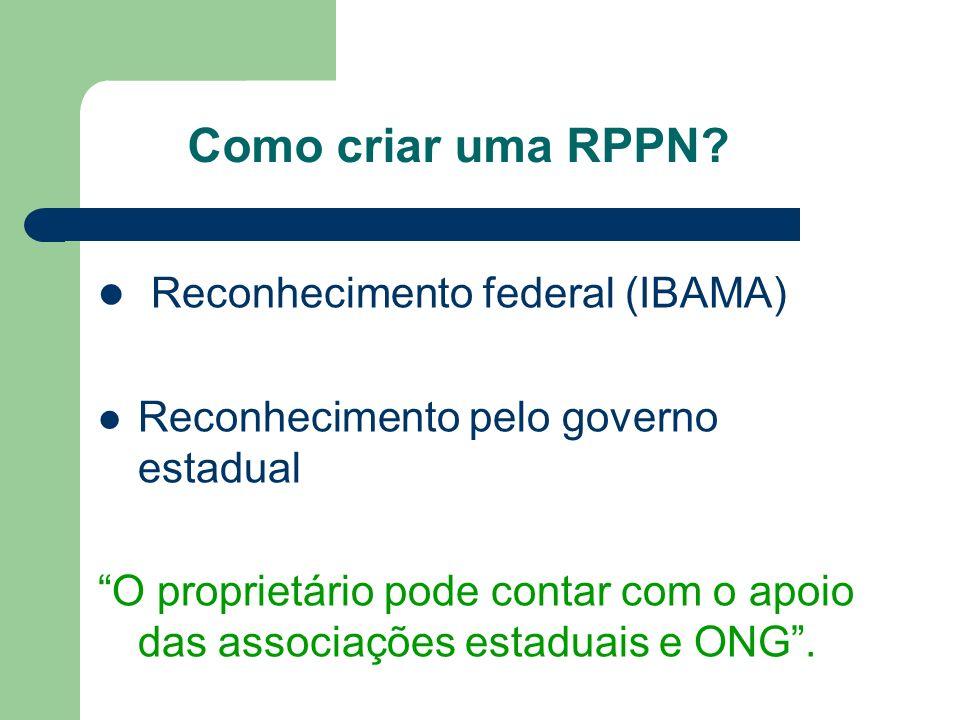Reconhecimento federal (IBAMA)