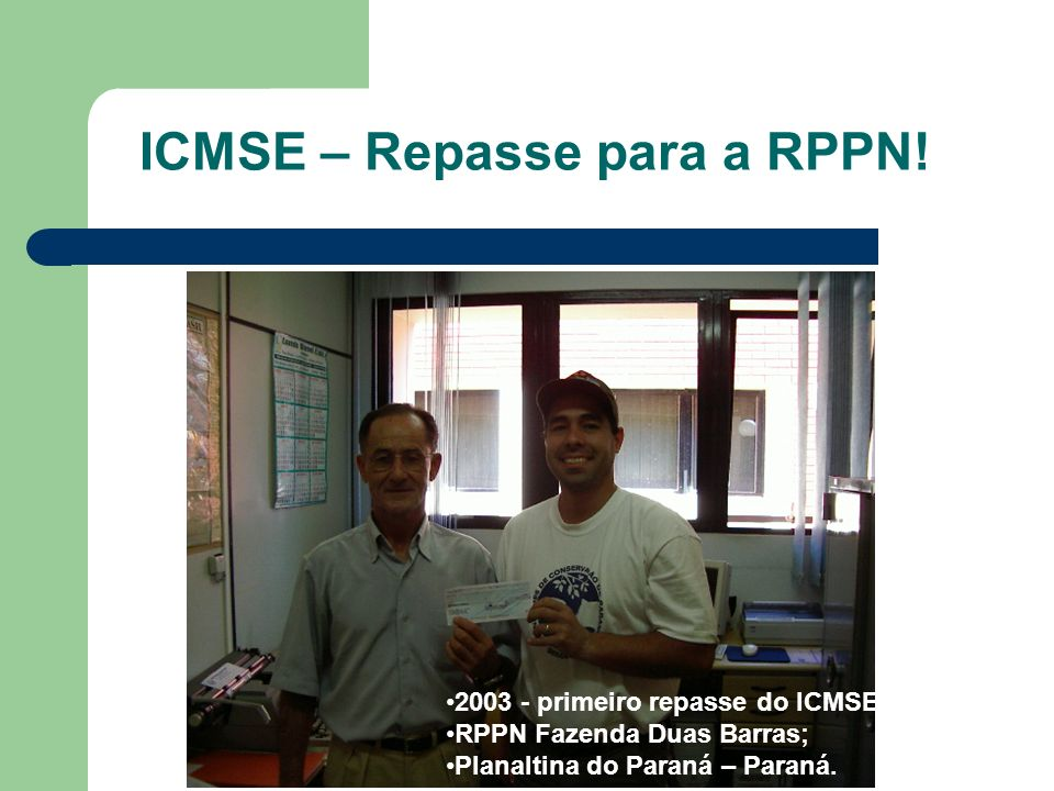 ICMSE – Repasse para a RPPN!