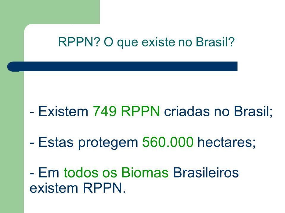 RPPN O que existe no Brasil