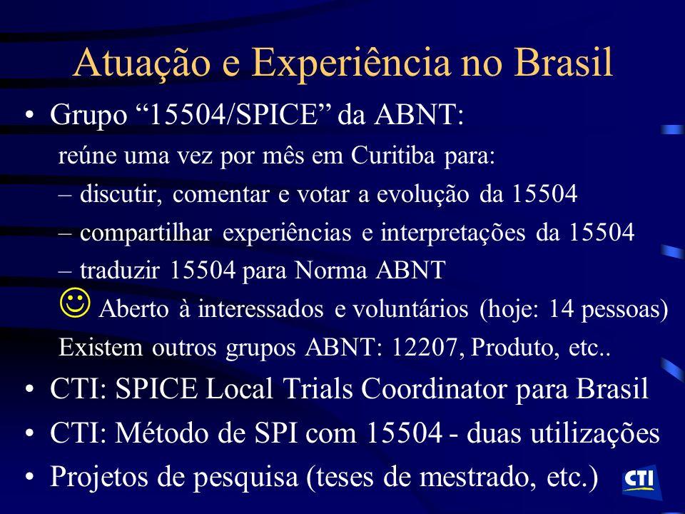 Atuação e Experiência no Brasil