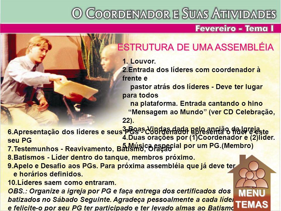 ESTRUTURA DE UMA ASSEMBLÉIA