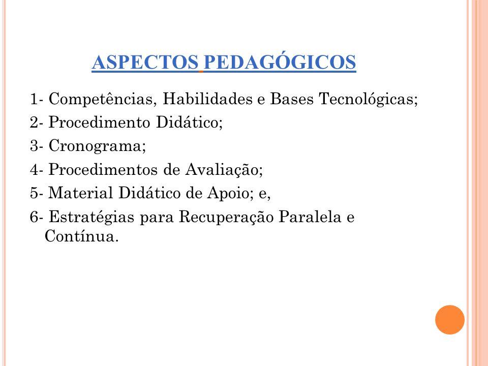 ASPECTOS PEDAGÓGICOS