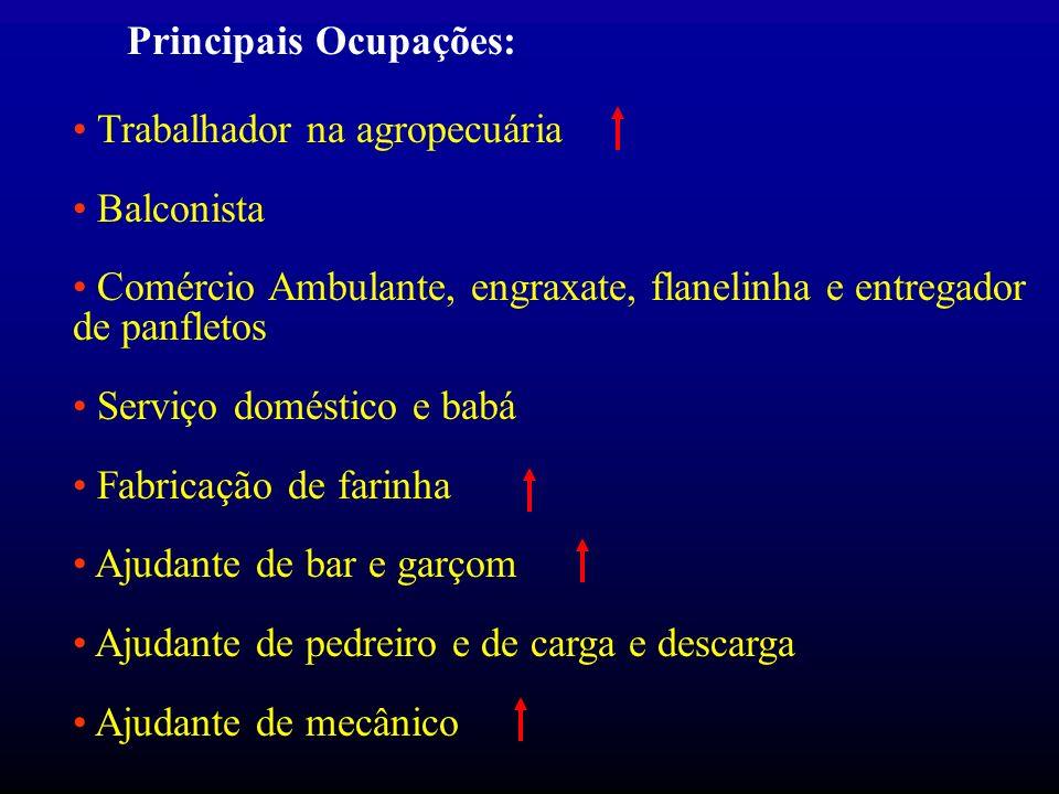 Principais Ocupações:
