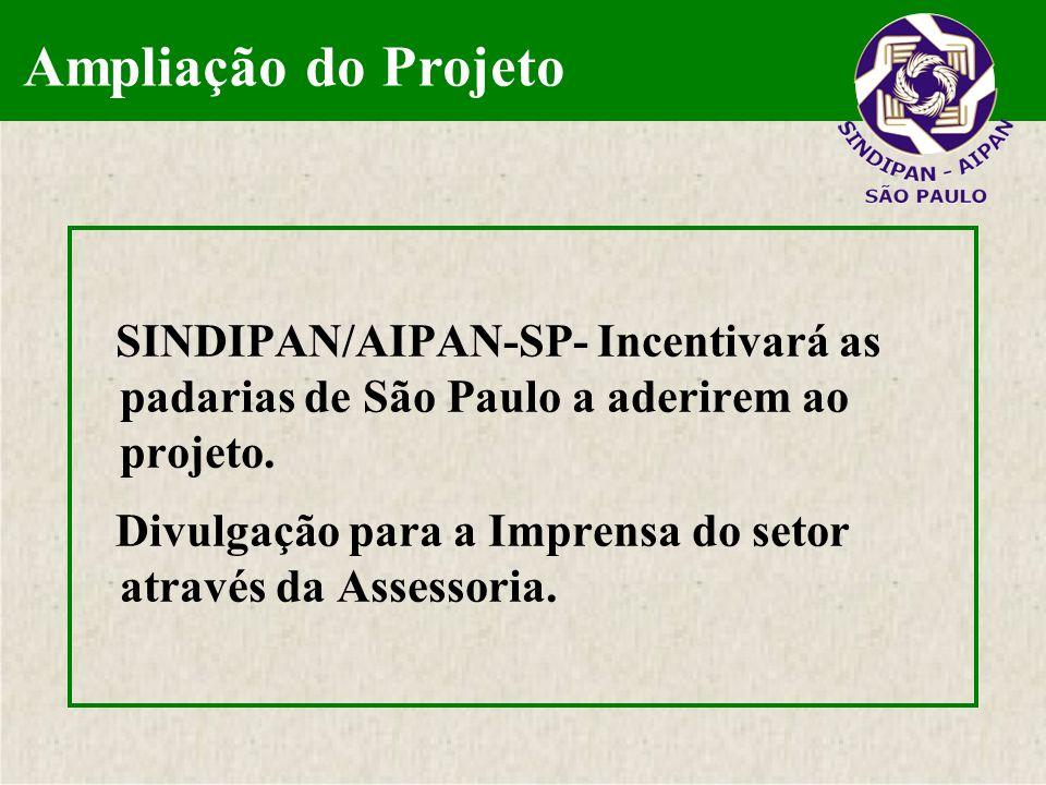 Ampliação do ProjetoSINDIPAN/AIPAN-SP- Incentivará as padarias de São Paulo a aderirem ao projeto.