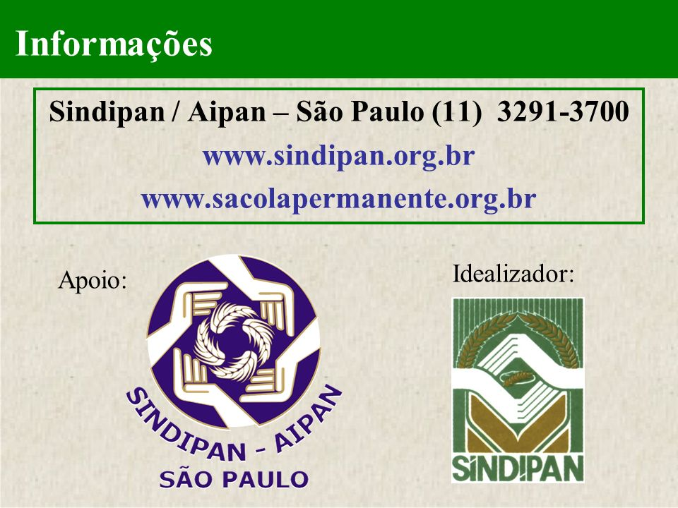 Sindipan / Aipan – São Paulo (11) 3291-3700