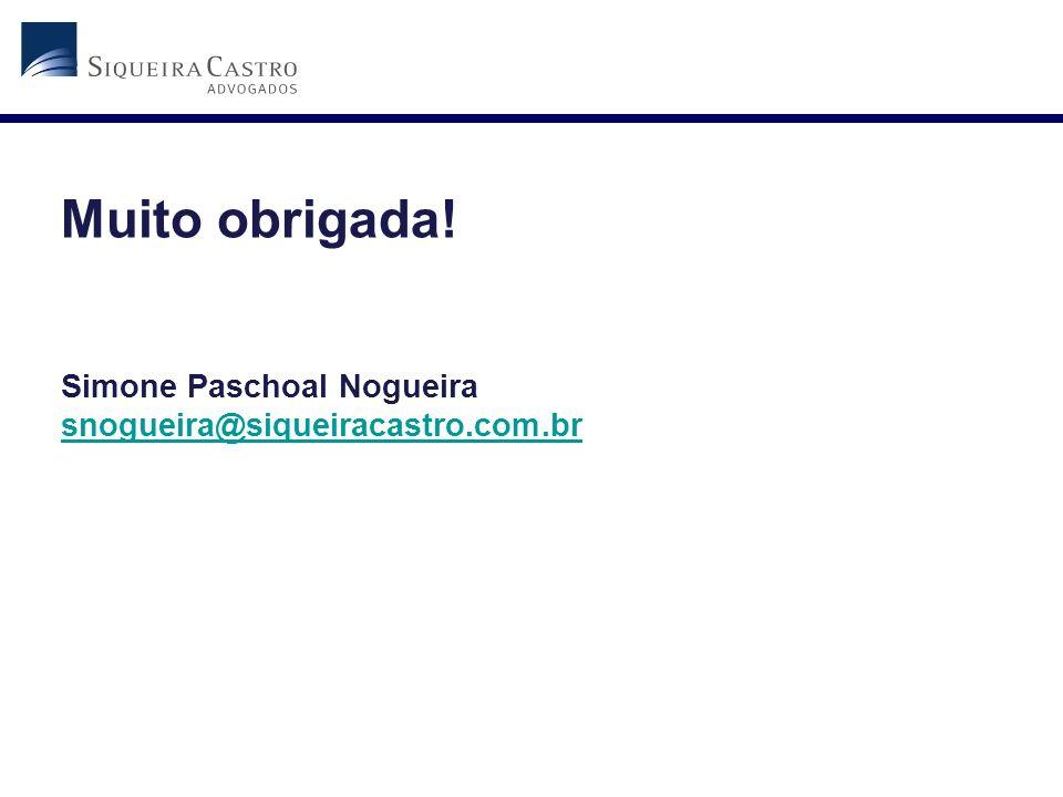 Muito obrigada! Simone Paschoal Nogueira