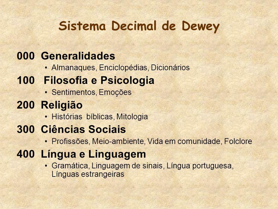 Sistema Decimal de Dewey
