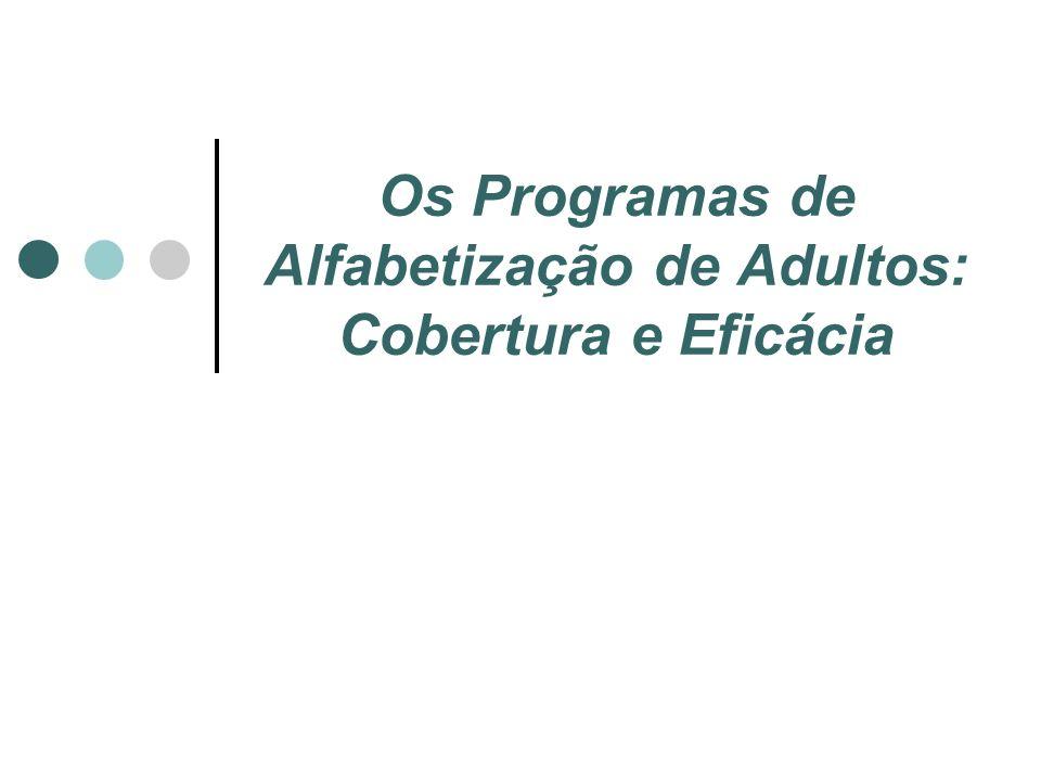 Os Programas de Alfabetização de Adultos: Cobertura e Eficácia