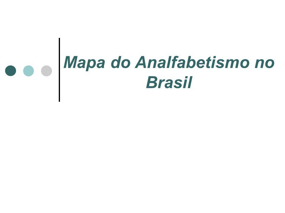 Mapa do Analfabetismo no Brasil