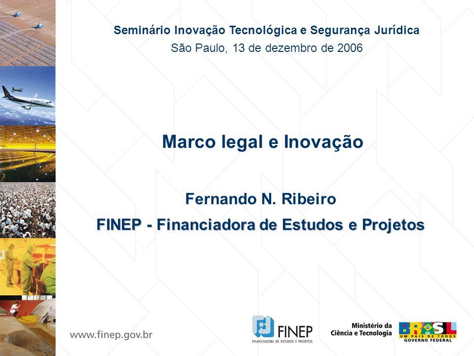 Marco legal e Inovação Fernando N. Ribeiro