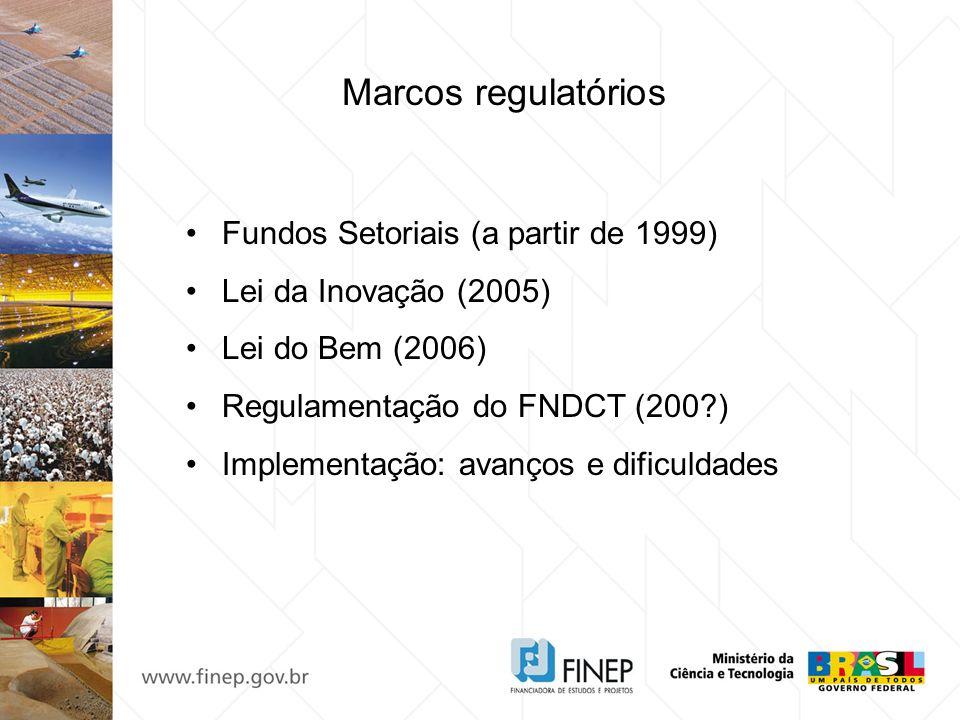 Marcos regulatórios Fundos Setoriais (a partir de 1999)