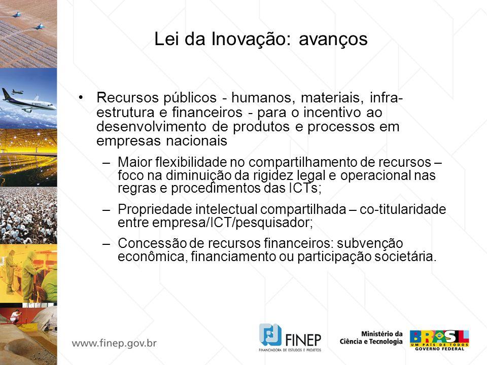 Lei da Inovação: avanços