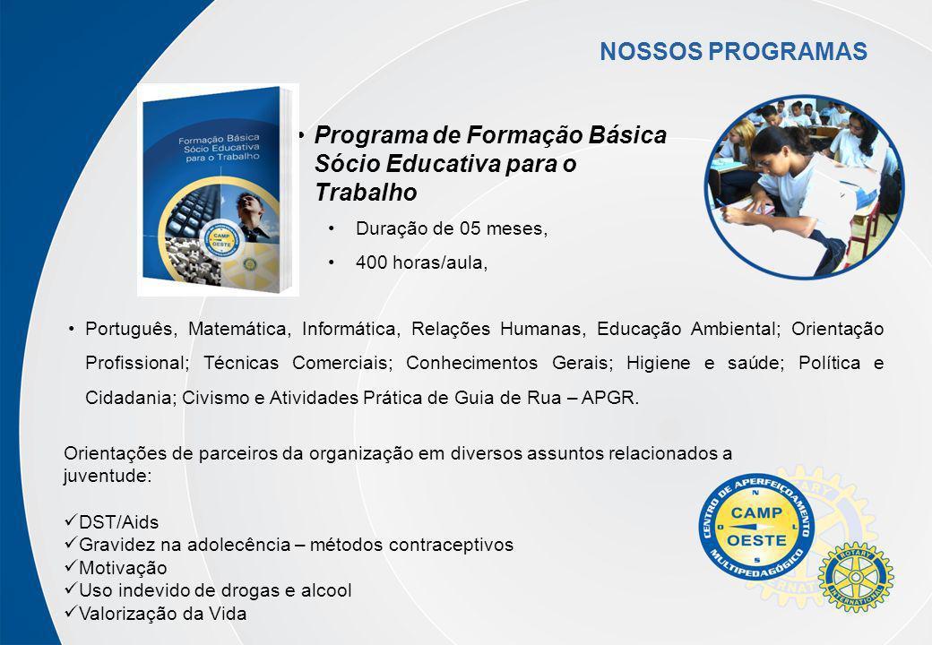 Programa de Formação Básica Sócio Educativa para o Trabalho