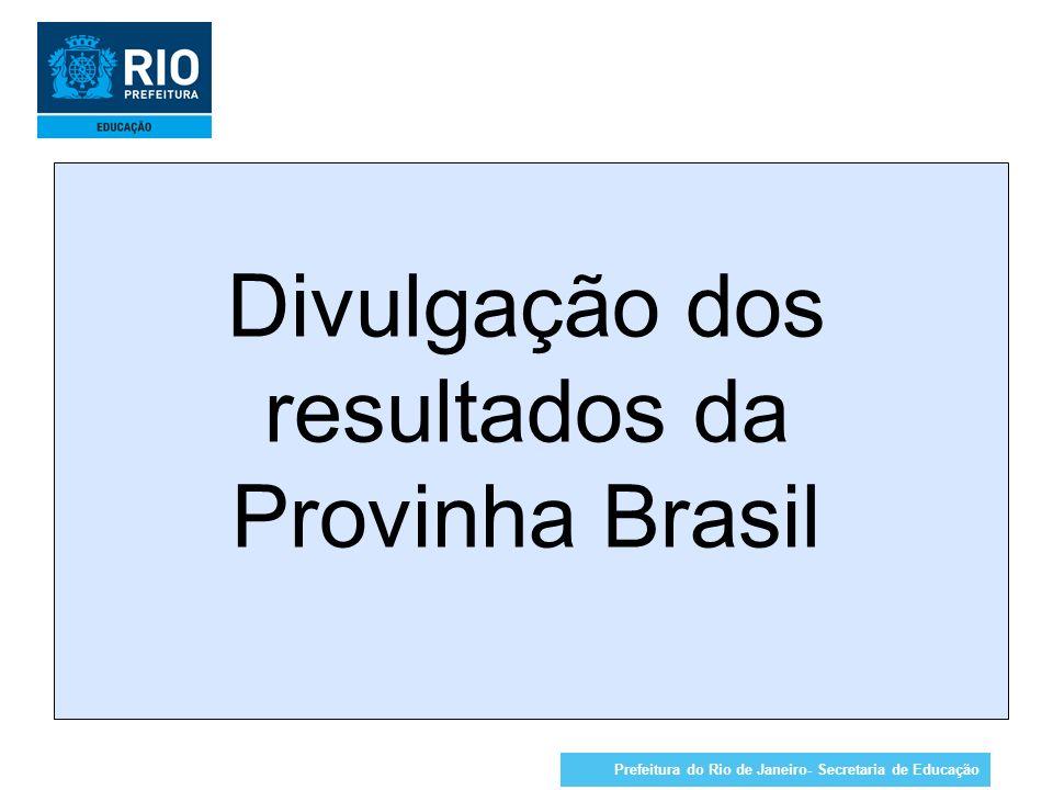 Divulgação dos resultados da Provinha Brasil