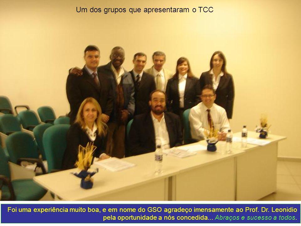Um dos grupos que apresentaram o TCC