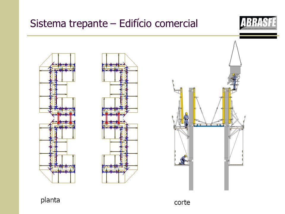 Sistema trepante – Edifício comercial